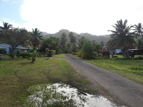 Aroa Kainga: The rural lane where the bungalows are.