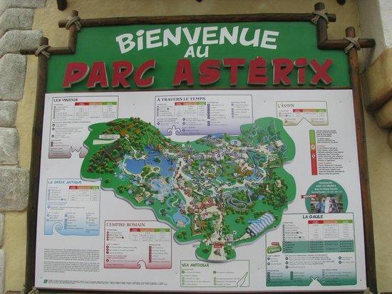 Parc Astérix : PARIS, PARC ASTERIX, MAPA ES GRANDISIMO