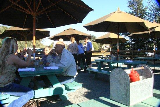 The Fremont Diner: Picnic Tables