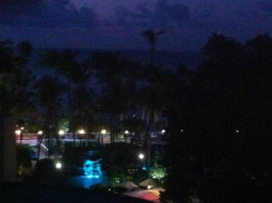 InterContinental San Juan: view from room at night