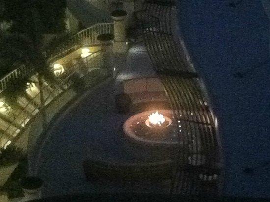 InterContinental San Juan: fire pit outside lobby ar