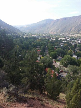 Doc Holliday's Grave: View from halfway up the hike to Linwood Cemetery