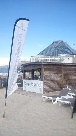 La Plage du Touquet : vue generale du touquet beach situe derriere aqualud