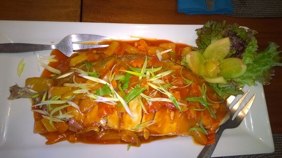 Steamed sweet & sour fish