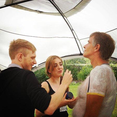 Spielplatz Naturist Club: Bodyart day with bodypainting being applied by the talented Adam Just and Lauren Jones Make Up