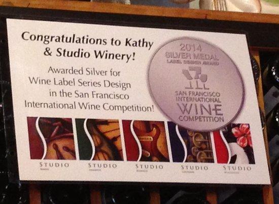 Studio Winery: Congratulations Kathy!