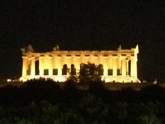 Hotel Villa Athena: View from Terrace where Dinner is served