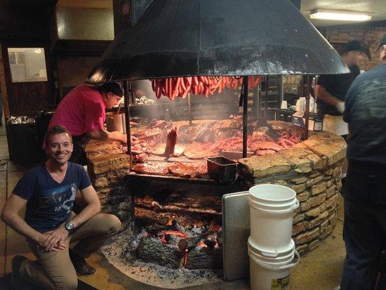 Salt Lick BBQ: BBQ Pit