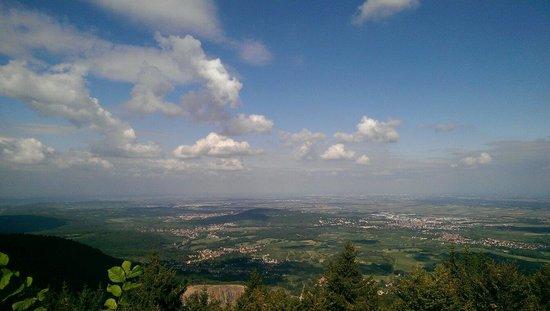 Couvent du mont Sainte-Odile : Tot aan Straatsburg kan je kijken