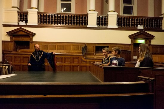 National Justice Museum: The courtroom, with Sheriff of Nottingham