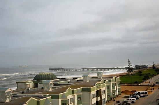 Beach Hotel Swakopmund : Vue de la terrasse de l'hôtel