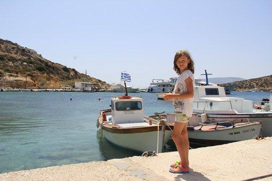 Наксос, Греция: Small local fishing boats