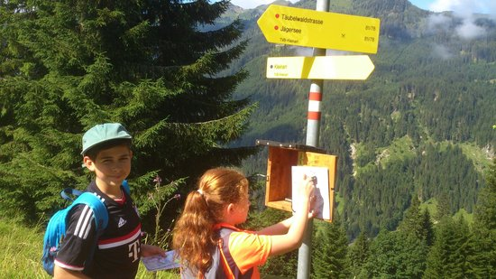 Hotel Guggenberger: superb signposted hiking routes,with a points system making if fun for kids