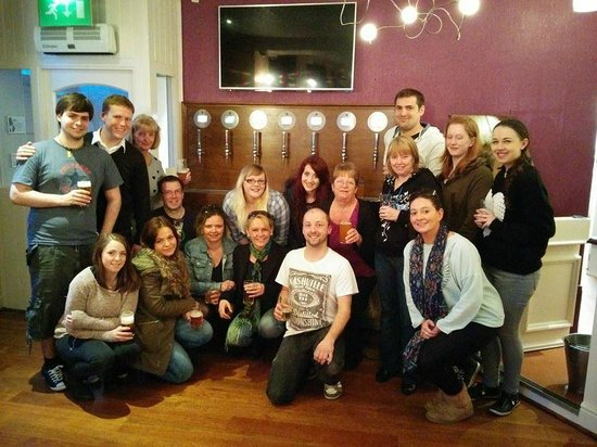 The Westbourne: Staff at launch of Wales' First Self Serve Beer Wall