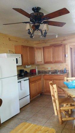 Cascada Cabins: Very nice kitchen set up