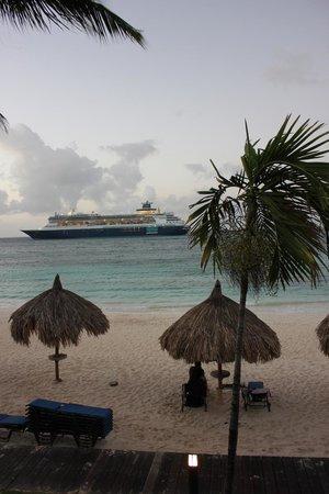 Tamarijn Aruba All Inclusive: vue de la chambre le matin de bonne heure