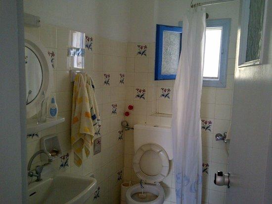 Hotel Akis: bagno datato