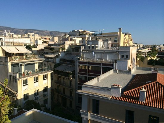 Hermes Hotel: view from terrace (looking away from acropolis)