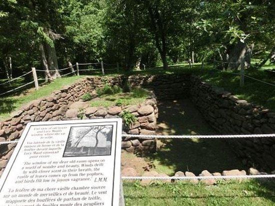 L.M. Montgomery's Cavendish National Historic Site of Canada: 井戸や土台だけが残っている。
