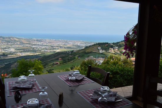 Colonnella, Włochy: La vista panoramica dai tavoli