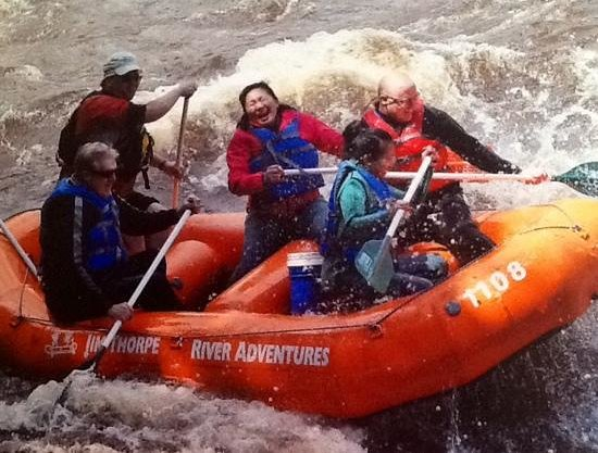 Jim Thorpe River Adventures: with Mike, our guide and my family!
