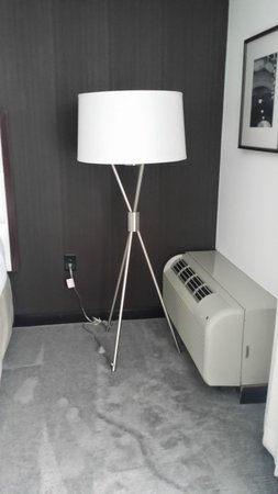 Weber's Boutique Hotel: sharp light with switch on floor that use foot to turn on/off