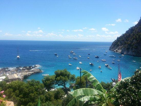 Hotel Weber Ambassador Capri: ホテルからの眺め