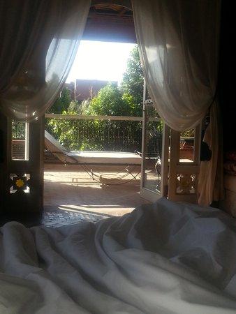 El Miria Palais Riad : Morning view from our bed