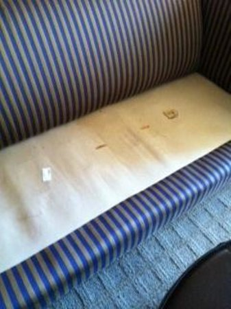 Omni Richmond Hotel: Filthy couch in the Presidential Suite