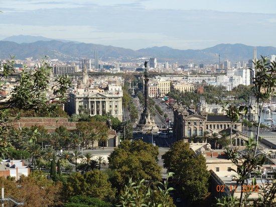 Hotel Miramar Barcelona: Вид на Колумба