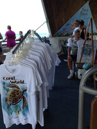 Marriott's Frenchman's Cove: Coral world - hand painted shirts