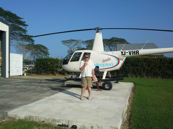 Sacha Having The Best Time  Picture Of Vanuatu Helicopters Port Vila  Tri