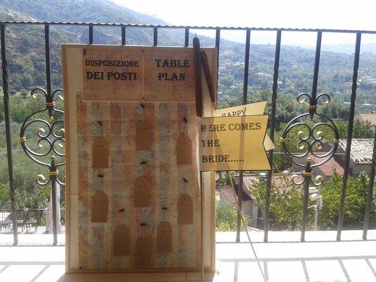 La Gioiosa Agriturismo: My table plan on my balcony