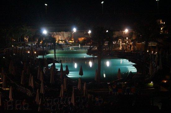db Seabank Resort + Spa: The pools at night.