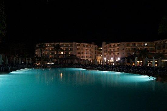 db Seabank Resort + Spa: The pool at night.