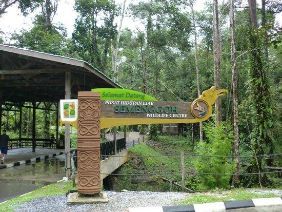 Semenggoh Nature Reserve: セメンゴ ワイルドライフ リハビリテーション センター 入口