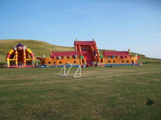 Freshwater Beach Holiday Park The Biggest Bouncy Castle In The World