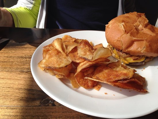 Clam Lake Beer Company: One of their burgers