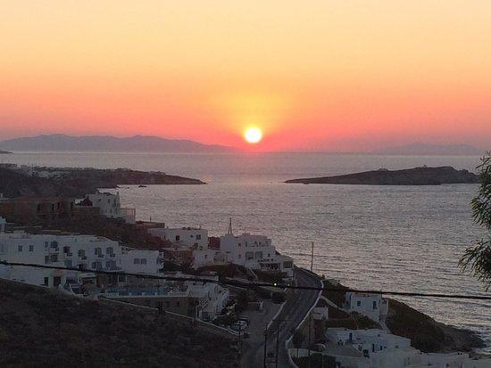 Myconian K Hotels : sun set Room view