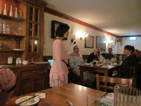 An Evening of Food, Folklore and Fairies: Story Teller entertains our group