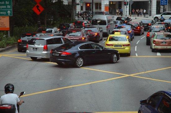 Hotel Miramar: улицы сингапура
