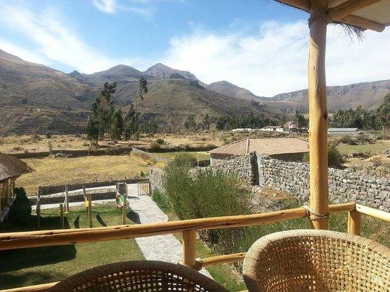 Killawasi Lodge: view from room 7 terrace