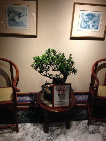 Grand Lapa Macau: エレベータそばに置かれた盆栽