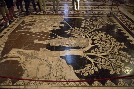 Dom von Siena: Marble floor.