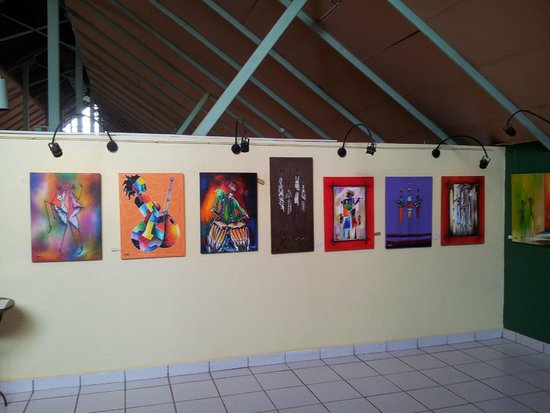 African Art Gallery In Senegambia Beach Hotel Paintings From