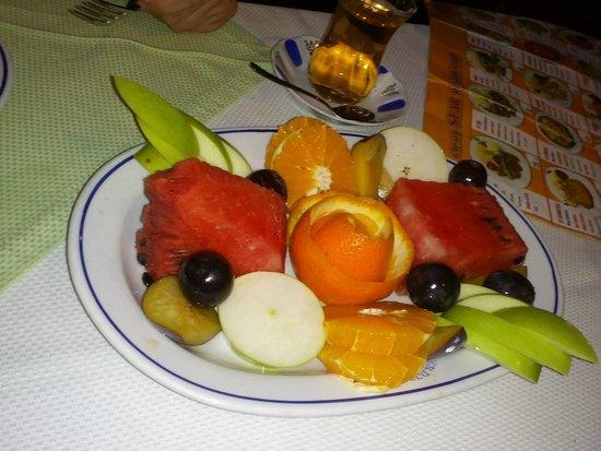 Yildizlar Restaurant : Plato de fruta