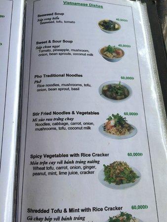 Karma Waters : The menu