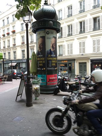 typical small Parisian square near Hotel France Albion