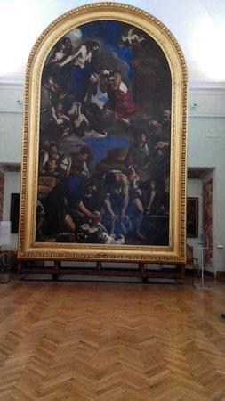 Musei Capitolini: Guercino : Pala del seppellimento di Santa Petronilla