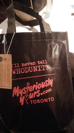 Mysteriously Yours Dinner Theatre: goody bag prize
